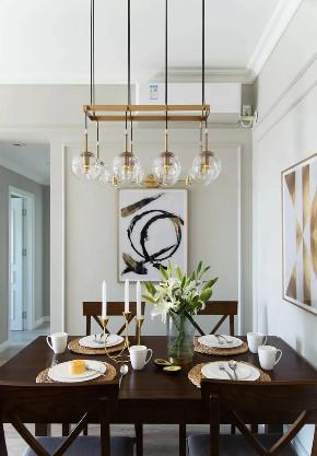 餐厅图片来自鹏友百年装饰在简美刚需宅 空间优雅不厚重的分享