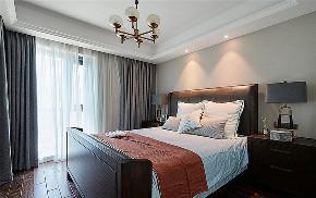 卧室图片来自家装大管家在105平美式现代3居 给人幸福舒适的分享