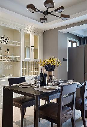 餐厅图片来自家装大管家在105平美式现代3居 给人幸福舒适的分享