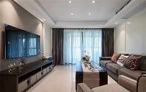 客厅图片来自家装大管家在105平美式现代3居 给人幸福舒适的分享