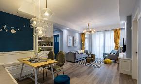客厅图片来自家装大管家在舒适耐看 120平北欧混搭时尚3居的分享