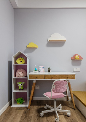 儿童房图片来自家装大管家在舒适耐看 120平北欧混搭时尚3居的分享