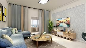 简约 欧式 田园 混搭 二居 客厅图片来自太原齐家典尚装饰在中正锦城现代简约的分享