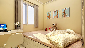 简约 欧式 田园 混搭 二居 卧室图片来自太原齐家典尚装饰在中正锦城现代简约的分享