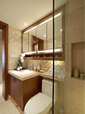 中式 三居 旧房改造 小资 卫生间图片来自北京今朝装饰在传统是中国风格--中式的分享