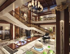 别墅 中式 古典别墅 申远 北京申远 楼梯图片来自申远空间设计北京分公司在北京申远-古典中式风格的分享