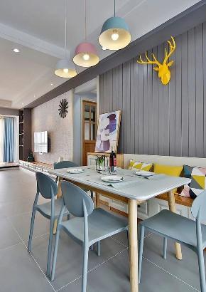 北欧 简约 全案设计 鹏友百年 保利 鸿恩寺 餐厅图片来自鹏友百年装饰在通阳台,客厅至少大了20㎡的分享