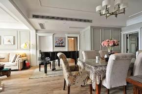 旧房改造 三居 美式 餐厅图片来自今朝装饰老房装修通王在130平小资美式风格的分享