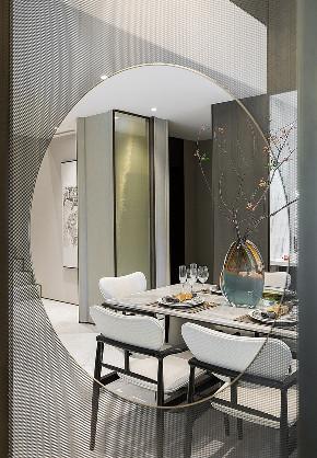 现代 混搭 别墅 叠拼 全案设计 软装设计 重庆家装 室内设计 餐厅图片来自鹏友百年装饰在叠拼别墅,现代繁冗中的简雅设计的分享
