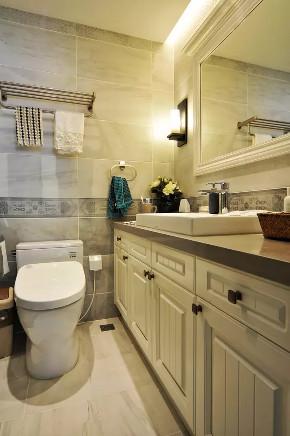 旧房改造 三居 美式 卫生间图片来自今朝装饰老房装修通王在130平小资美式风格的分享
