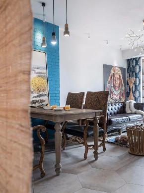 混搭 照母山 北区 鹏友百年 半包 全案设计 餐厅图片来自鹏友百年装饰在个性混搭两室 这个卫生间太性感的分享