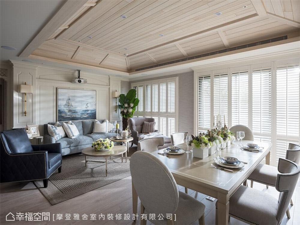 装修设计 装修完成 美式风格 公寓 客厅图片来自幸福空间在126平,梦幻悠闲度假宅的分享