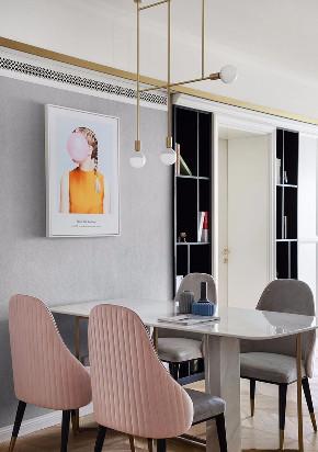 混搭 轻奢 现代 元素 全案设计 餐厅图片来自鹏友百年装饰在温柔雅奢INS风的分享