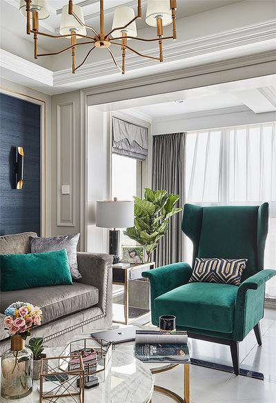 客厅图片来自家装大管家在温馨味道 110平现代美式混搭3居的分享