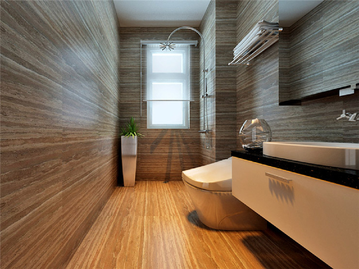 很多人都会问这个卫生间为什么不做推拉门呢?不是空间效果越大越好吗?这里我要强调两点,第一卫生间有窗户,光线和空气流通都非常好。第二点是手盆在门口,最好侧面有墙面遮挡,这样既遮丑又防水!