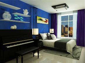 简约 三居 白领 卧室图片来自装家美在首开国风琅樾128平米现代简约的分享