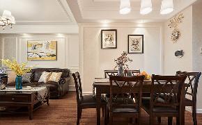 餐厅图片来自家装大管家在84平简约美式两居 前卫又大气的分享