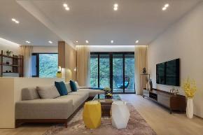 现代 新中式 混搭 全案设计 鹏友百年 重庆家装 客厅图片来自鹏友百年装饰在享受的就是这种禅意生活的分享