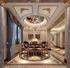 餐厅图片来自装家美在复地东山国际480平米效果图的分享