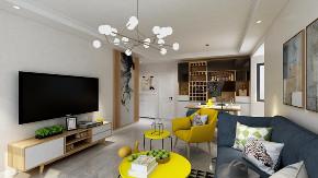 混搭 二居 收纳 旧房改造 小资 客厅图片来自北京今朝装饰在北欧混搭的分享