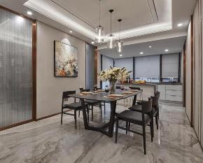 餐厅图片来自装家美在东岸悦府173平米新中式风格的分享