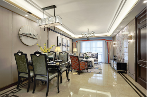 餐厅图片来自装家美在首创国际学园150平米新古典风的分享