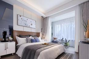 卧室图片来自鹏友百年装饰在新中式+蓝色=绝配无误的分享