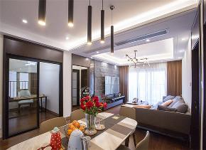 客厅图片来自深圳浩天装饰在110m²华润城,告别随波逐流!的分享