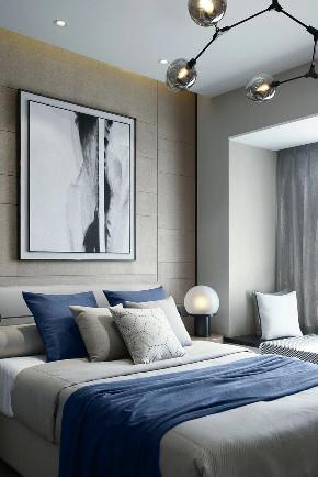 轻奢 混搭 全案设计 鹏友百年 重庆家装 定制家装 实木 卧室图片来自鹏友百年装饰在灰色调轻奢的分享