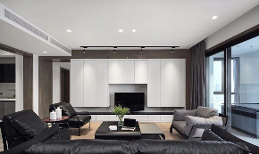 现代 黑白灰 全案设计 舜山府 重庆家装 客厅图片来自鹏友百年装饰在黑白灰现代简约大宅的分享