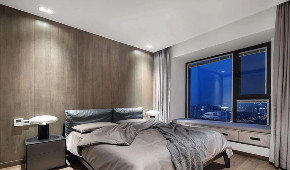 现代 黑白灰 全案设计 舜山府 重庆家装 卧室图片来自鹏友百年装饰在黑白灰现代简约大宅的分享