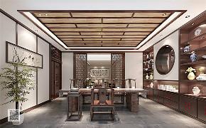 新中式 别墅 豪宅 中式 游小华 书房图片来自福建天汇设计工程有限公司在THD-天汇设计《九富墅》的分享