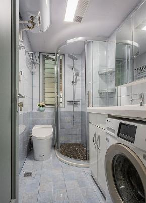 卫生间图片来自家装大管家在白茶清欢 98平美式简约温馨空间的分享