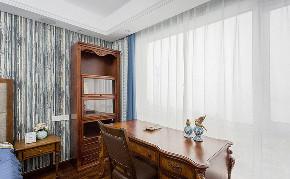 书房图片来自家装大管家在白茶清欢 98平美式简约温馨空间的分享