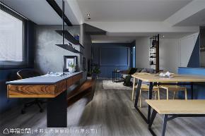 装修设计 装修完成 工业风格 书房图片来自幸福空间在69平,线性设计  蓝调工业宅的分享