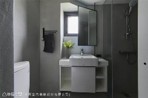 装修设计 装修完成 工业风格 卫生间图片来自幸福空间在69平,线性设计  蓝调工业宅的分享