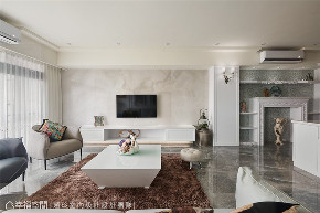 装修设计 装修完成 新古典 客厅图片来自幸福空间在238平,绚染综观 光影恣意流转的分享