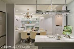 装修设计 装修完成 新古典 餐厅图片来自幸福空间在238平,绚染综观 光影恣意流转的分享