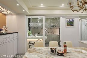 装修设计 装修完成 新古典 厨房图片来自幸福空间在238平,绚染综观 光影恣意流转的分享