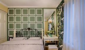 现代 美式 混搭 鹏友百年 全案设计 重庆家装 精装 卧室图片来自鹏友百年装饰在现代美式三房的分享