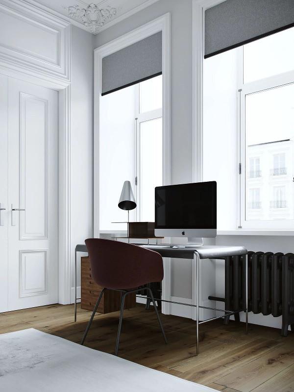 办工桌放在靠窗位置 充足的自然光线 更方便屋主工作、学习