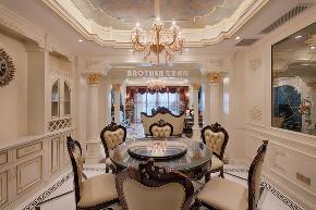 欧式 白领 未来家 客厅 大户型 餐厅图片来自兄弟装饰-蒋林明在融创白象街装修|155平大户型设计的分享