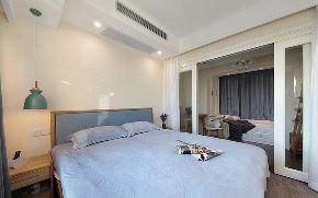 卧室图片来自家装大管家在89平北欧风情居 充满跳跃生机感的分享