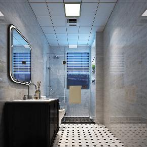 现代 简约 三居 西安装修 80后 卫生间图片来自西安城市人家装饰王凯在140平时光交错,影随心动的分享