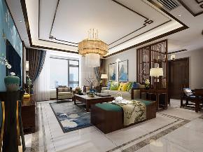 新中式 三居 西安装修 装修公司 中式装修 客厅图片来自西安城市人家装饰王凯在新中式,漫步东方宁静生活的分享