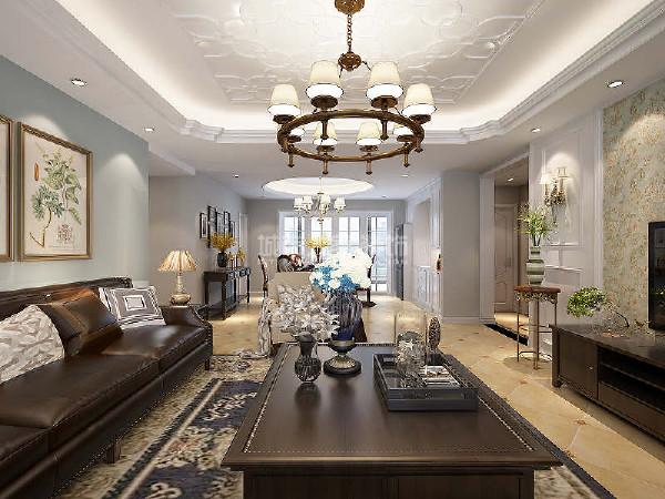 选用现代美式家具,简单而不失品质,将空间层次搭配的条理有序。