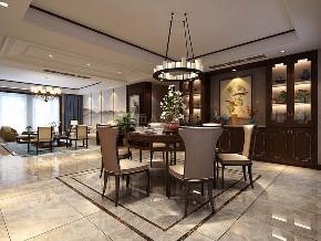 中式装修 西安装修 装修公司 大户型 中式风格 餐厅图片来自西安城市人家装饰王凯在245平中式,泼墨煮茶、梦阑酒下的分享