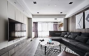 客厅图片来自家装大管家在106平现代素雅3居 营造舒适生活的分享
