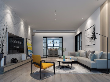 世纪村三房黑白灰现代风格设计