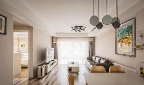 客厅图片来自家装大管家在105平现代温暖3居 回归本真生活的分享